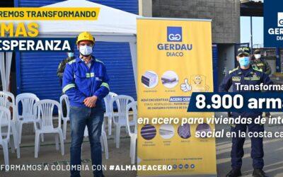 Gerdau Diaco recibió 8.917 armas blancas que se transformarán en acero para la construcción de Viviendas de Interés Social en Barranquilla